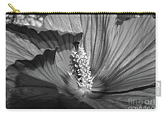 Hibiscus Black And White Carry-all Pouch