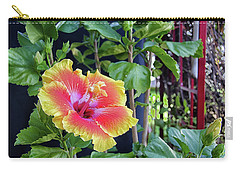 Hibiscus Bloom By The Red Trellis Carry-all Pouch