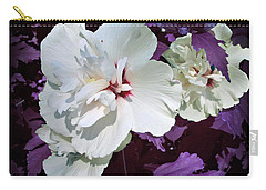 Carry-all Pouch featuring the photograph Hibiscus - Circa 2006 Saratoga, Ny by Iowan Stone-Flowers