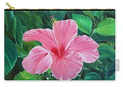 Carry-all Pouch featuring the painting Hibiscus by Elizabeth Lock