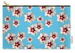 Carry-all Pouch featuring the mixed media Hibiscus Flower Pattern by Christina Rollo