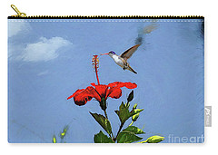 Carry-all Pouch featuring the photograph Hibiscus High by John Kolenberg
