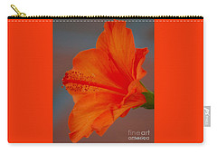Hot Orange Hibiscus Carry-all Pouch