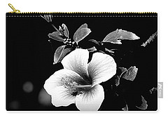 Carry-all Pouch featuring the photograph Hibiscus In The Dark by Lori Seaman