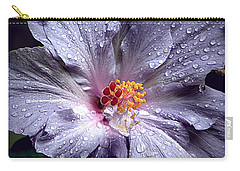 Hibiscus In The Rain Carry-all Pouch