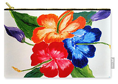 Carry-all Pouch featuring the painting Hibiscus by Jamie Frier