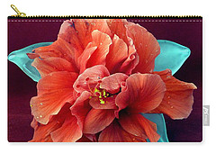 Hibiscus On Glass Carry-all Pouch