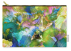 Carry-all Pouch featuring the digital art Hibiscus Trumpets by Klara Acel