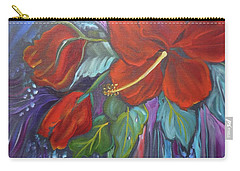 Hibiscus Whimsy Carry-all Pouch