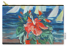 Hibiscus With An Orange And Sails For Breakfast Carry-all Pouch