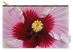 Hibiscus With Cherry-red Center Carry-all Pouch by Susan Wiedmann