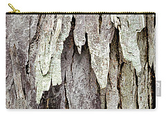 Carry-all Pouch featuring the photograph Hickory Tree Bark Abstract by Christina Rollo