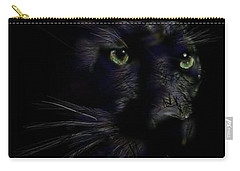 Carry-all Pouch featuring the digital art Hidden Cat by Darren Cannell