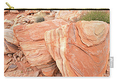 Carry-all Pouch featuring the photograph Hidden Cove In Valley Of Fire by Ray Mathis
