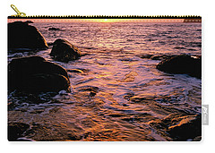Hidden Cove Sunset Redwood National Park Carry-all Pouch by Ed  Riche