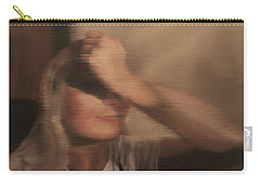 Carry-all Pouch featuring the painting Hidden Gaze by Cherise Foster