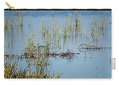 Hidden In The Grass The Wood Sandpiper  Carry-all Pouch