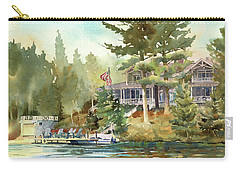 Carry-all Pouch featuring the painting Hidden Lake by Kris Parins