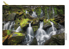 Carry-all Pouch featuring the photograph Hidden Mossy Falls by Bill Wakeley