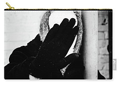 Carry-all Pouch featuring the photograph Hidden Woman In Black Fur by John Williams