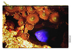 Carry-all Pouch featuring the photograph Hiding Damsel by Anthony Jones