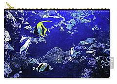 Hiding Fish Carry-all Pouch by Joan  Minchak