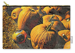 Hiding In Plain Pumpkin Carry-all Pouch by Deborah Nakano