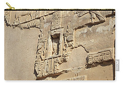 Carry-all Pouch featuring the photograph Hieroglyphic by Silvia Bruno