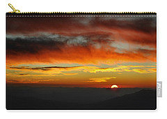 Carry-all Pouch featuring the photograph High Altitude Fiery Sunset by Joe Bonita