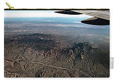 Carry-all Pouch featuring the photograph High Desert From High Above by T Brian Jones