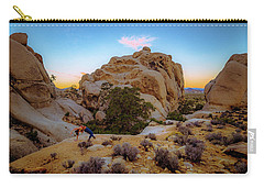 Carry-all Pouch featuring the photograph High Desert Pose by T Brian Jones
