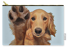 Carry-all Pouch featuring the painting High Five by Jindra Noewi