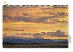 Carry-all Pouch featuring the photograph High Plains Meet The Rocky Mountains At Sunset by James BO Insogna