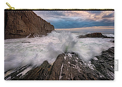 Carry-all Pouch featuring the photograph High Tide At Bald Head Cliff by Rick Berk