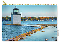 Carry-all Pouch featuring the photograph High Tide At Derby Wharf In Salem by Jeff Folger