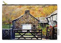 Carry-all Pouch featuring the painting High Yewdale Farm by Alan Lakin