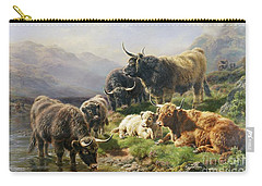 Highland Cattle Carry-all Pouch by William Watson