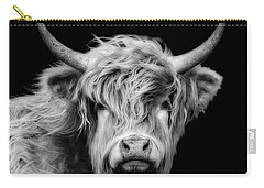 Highland Coo Carry-all Pouch by Linsey Williams