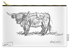Highland Cow Field Sketch Carry-all Pouch