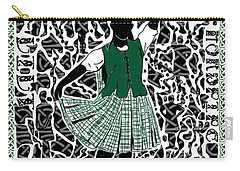 Carry-all Pouch featuring the digital art Highland Dancing by Darren Cannell