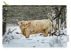 Highlander In Winter Carry-all Pouch