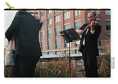 Carry-all Pouch featuring the photograph Highline Serenade by Madeline Ellis