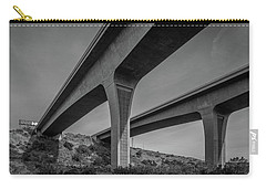 Highway 52 Over Spring Canyon, Black And White Carry-all Pouch