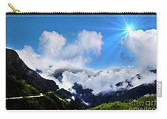 Carry-all Pouch featuring the photograph Highway Through The Andes - Painting by Al Bourassa