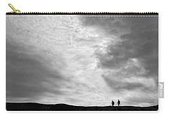 Hikers Under The Clouds Carry-all Pouch