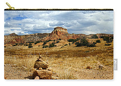 Carry-all Pouch featuring the photograph Hiking Ghost Ranch New Mexico by Kurt Van Wagner