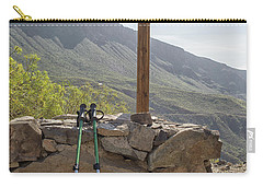 Hiking Poles Resting Near Sign Carry-all Pouch