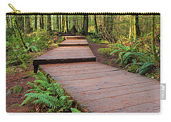 Hiking Trail Wood Walkway In Lynn Canyon Park Carry-all Pouch