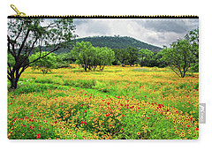 Hill Country Wildflowers Carry-all Pouch by Lynn Bauer