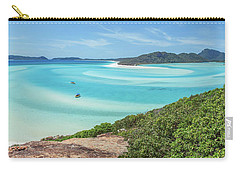 Carry-all Pouch featuring the photograph Hill Inlet Lookout by Az Jackson